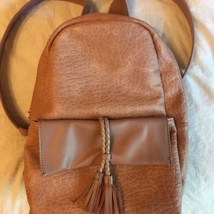 Leather Urban Expressions Backpack (light pink)